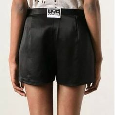NWT Adidas X Opening Ceremony Black Tap Short 15in (38cm) across the waist, 17.5in (44.25cm) across the hips, 10in (25.25cm) rise, 3.5in (8.75cm) inseam, 12in (30.5cm) across the leg hole, 13in (33cm) waist to leg hole, 8in (20.25cm) zipper length.  61% Acetate & 39% Rayon Adidas X Opening Ceremony Pants