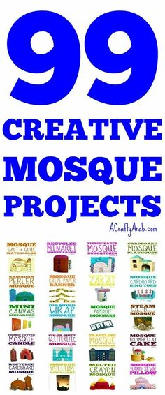 This list of 99 mosque creative projects, including free tutorials, highlights how important these religious centers are for Muslims. Moon Projects, Projects For Kids, Art Projects, Religion Activities, Mosque Silhouette, Muslim Culture, Lacing Cards, Laide, Ramadan Crafts