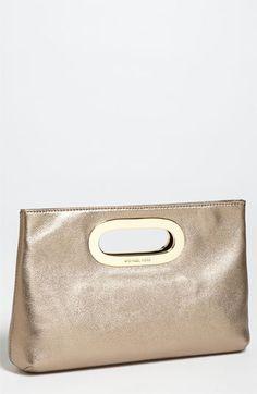 great cocktail purse! // MICHAEL Michael Kors 'Berkley' Metallic Clutch