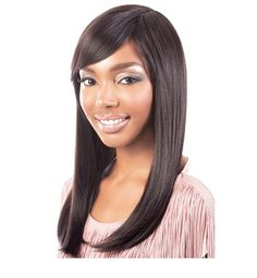 Motown Tress Synthetic Wig- Y Pearl Details: Length Overall: - Long Straight with Side Bangs - Integrate front hair line African American Beauty, Side Bangs, Costume Wigs, Long Wigs, Wigs For Black Women, Motown, Synthetic Wigs, Textured Hair, Human Hair Wigs