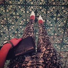 Last night I fell in love with some tiles. Perfectly normal behaviour.  #tiles #tileaddiction #tilelove #burgundy #france #fashion #fashionblogger #prettylittleiiinspo #style #styleblogger #ootd #details #pretty #whiteheels #ysl #instagood #instafashion #ootdmagazine #print #jumpsuit #reiss #lv #louisvuitton #fwis #fromwhereistand #heels by unitedcoloursofkat