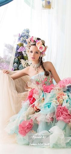 Another take on a flower girl: by Stella de Libero @divinelycr8tive