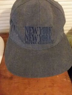 Ball Cap Hat New York New York Hotel & Casino Blue Snap Back 100% Cotton  #HIT #SnapBack