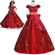 >> Click to Buy << Cheap Elena of Avalor Princess Elena Cosplay Costume Red Luxury Fancy Princess Dress Halloween Costumes For Girl Women Custom #Affiliate Disney Princess Dresses, Princess Costumes, Disney Dresses, Girls Dresses, Prom Dresses, Cosplay Dress, Costume Dress, Cosplay Costumes, Halloween Costumes For Girls