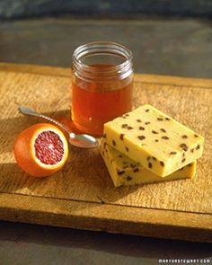 Golden Sweet Polenta with Blood Oranges