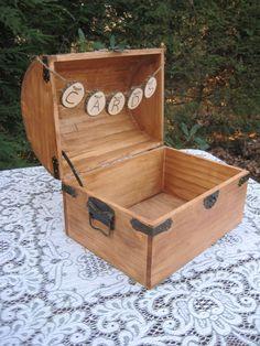 Large Card Box Rustic Wedding Decor Trunk by YourDivineAffair, $84.95