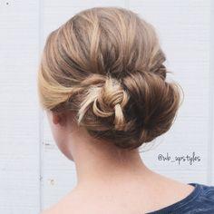 Low bun with a braid. Bridal updo! #wb_upstyles