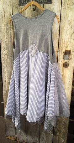 Grey Lagenlook Tunic Boho Festival Wear Lagenlook Tunic