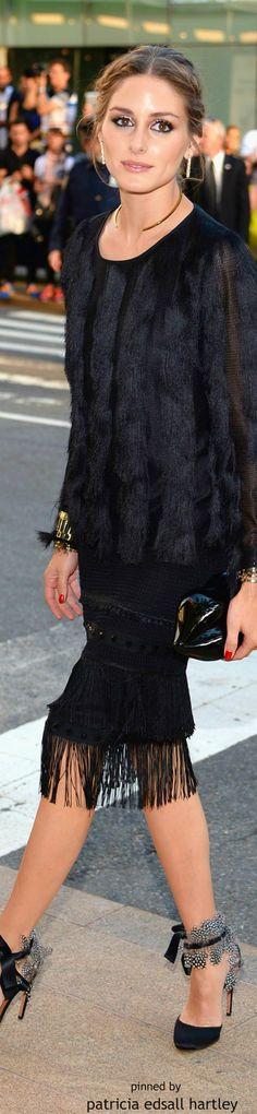 The stunning Olivia Palermo wearing a beautiful fur blouse