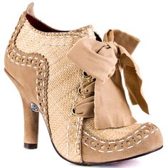 Irregular Choices Beige Abigails Party - Natural for 149.99 direct from heels.com