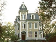 Second Empire House Plans Beautiful French House Plans with Mansard Roof Victorian Architecture, Beautiful Architecture, Beautiful Buildings, Beautiful Homes, Revival Architecture, House Architecture, Landscape Architecture, Landscape Design, French House Plans