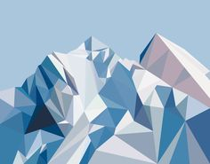 """""""Banners"""" Some awesome geometric mountain images I think are PERFECT for a background on your phone or tablet! Geometric Mountain, Geometric 3d, Geometric Painting, Abstract Art, Mountain Images, Mountain Designs, Mountain Art, Berg Illustration, Mountain Illustration"""
