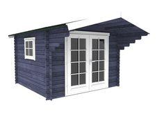Interflex 3032 tuinhuisje / blokhut Outdoor Living, Outdoor Decor, Garage Doors, Shed, Outdoor Structures, Home Decor, Outdoor Life, Decoration Home, Room Decor