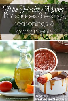 Trim Healthy Mama DIY Sauces, Dressings, Seasonings & Condiments (Gluten-free, Sugar-free)