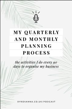 How I plan out my business activities every quarter and every month. Setting goals as a freelancer is so important! #businessplan #goalsetting #businessplanner Business Coaching, Business Entrepreneur, 90 Day Plan, Business Planner, Goals Planner, Time Management Tips, Creating A Blog, Setting Goals, Creative Business