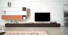 Spectral Ameno TV-Möbel braunes Lowboard in Wohnlandschaft bei Funkhaus Küchenmeister. Mehr Infos jederzeit auf unserer Website.