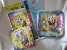 Spongebob Birthday Party Supplies Lot New Plates/Napkins/Bags