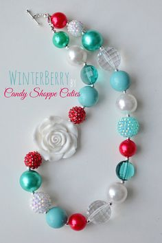 Winterberry Chunky Necklace for Girls White by CandyShoppeCuties, $23.00