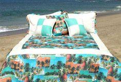 hawaiian+bedding   ... Products » Beach Bettyz Girls Surfer Bedding » Fiji Tropical Bedding