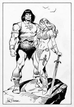 Conan & Red Sonja by John Buscema