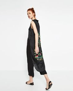 Image 3 of FLORAL EMBROIDERED SHIRT from Zara