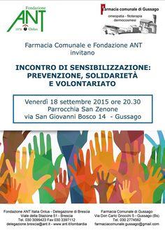 Venerdì 18 settembre incontro di sensibilizzazione sulla prevenzione delle neoplasie - http://www.gussagonews.it/incontro-sensibilizzazione-prevenzione-neoplasie-farmacia-ant-settembre-2015/