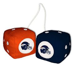 "Cool & Custom {3"" Inch w/ String} Single Pair of ""Fuzzy, Furry & Fluffy Plush Dice"" Rear View Mirror Hanging Ornament Decoration w/ Denver Broncos Logo Design [BMW Orange, Blue and White Multi Color] mySimple Products http://www.amazon.com/dp/B01674GGUA/ref=cm_sw_r_pi_dp_NVQMwb06NAAG4"