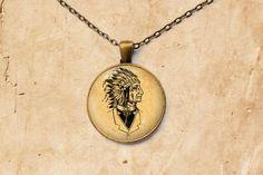 Vintage necklace Gentleman Chief pendant Native American jewelry