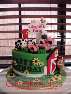 farn aniaml cakes  | Farm Animals Cake | Flickr - Photo Sharing!