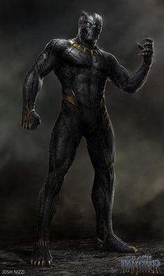 Official concept art of Killmonger in the Golden Jaguar suit! Black Panther Images, Black Panther Hd Wallpaper, Black Panther Art, Black Panther Marvel, Marvel Avengers, Marvel Comics Art, Marvel Heroes, Marvel Comic Character, Marvel Characters
