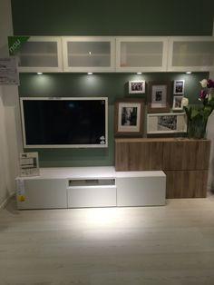 Album - 2 - IKEA realizations in stores around TV, range Besta, Billy, Kallax (Expedit), Hemnes . Hemnes, Ikea Tv Unit, Living Room Scandinavian, Ikea Living Room, Best Ikea, Home And Living, Family Room, Sweet Home, Home Decor