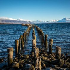 Puerto Natales the entrance door to #Chile's mountains of #Patagonia on a sunny…