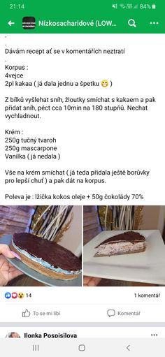 Low Carb Recipes, Healthy Recipes, Low Carb Diet, Health Fitness, Gluten Free, Cake, Food, Kuchen, Low Carb