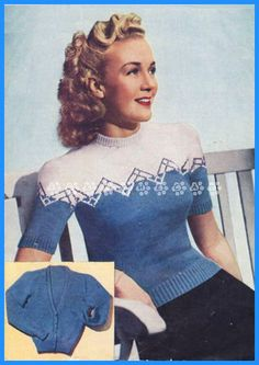Weldons Knitting Patterns Weldons Teddy Bear Free Vintage Knitting Pattern Buttons And Beeswax, Weldons Lady S Lacy Bedjacket Knitting Pattern Vintage Ladies Fair Isle Knitting Patterns Available From The, Knitting Patterns Free, Knit Patterns, Vintage Patterns, Knitting Stitches, Vintage Ideas, Couture Vintage, Vintage Fashion, 1940's Fashion, Vintage Knitting