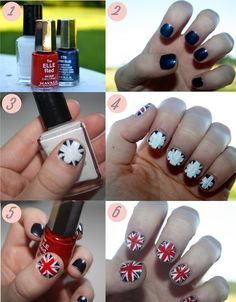 How to: Union Jack Nail Art! Trends With Benefits