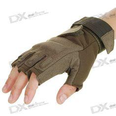 Hawk Half-Finger Gloves - Color Assorted  Price: $13.60