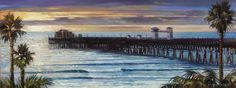 Oceanside, California Painting by Wade Koniakowksy