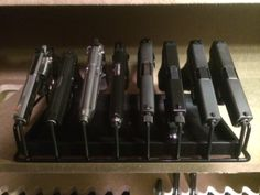 I absolutely love my 8 gun armory rack!  I've put a lot of time researching options to increase space in my safe.  I never felt comfortable laying my handguns flat while stored.  It takes up too much room and I was always concerned any moisture in the padded shelving might promote rust.  The armory rack alleviates that concern and provides many other benefits.   I've since replaced previous pistol storage solutions with the 8 gun armory rack.  You cannot go wrong with the Armory Rack!