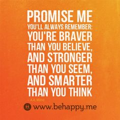Promise me..