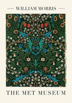 Vintage Art Prints, Vintage Wall Art, Vintage Posters, Berlin, Pattern Floral, Art Nouveau, William Morris Art, Art Exhibition Posters, Museum Poster