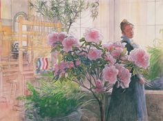 Carl Larsson (1859-1928): Azalea