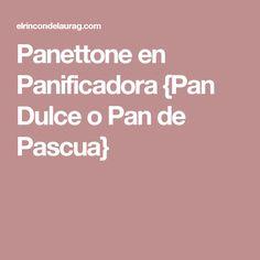 Panettone en Panificadora {Pan Dulce o Pan de Pascua}