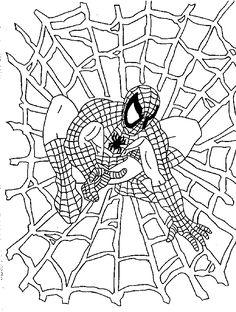 Spider-Man Kleurplaat
