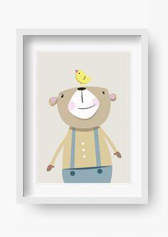 """Kinder Poster """"Bruno Bär"""" (Kinderzimmer Bild)"""