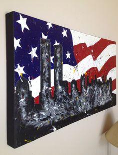 911 49x26 by EgoAcrylics on Etsy, $1200.00