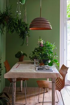 LOVE this shade of green from Farrow & Ball! Green Dining Room, Living Room Green, Green Rooms, Living Room Paint, Sage Green Paint, Green Paint Colors, Wall Paint Colors, Mint Green Paints, Sage Green Walls