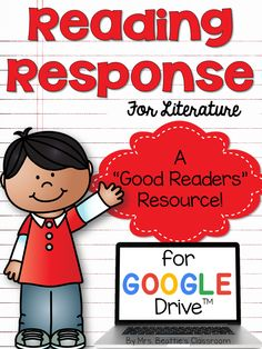 Are you a classroom teacher using Google Drive with your students? You are going to want these reading response graphic organizers - the perfect reading tool for your early elementary students!