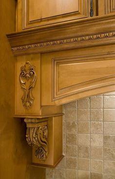 cherry wood :: carved valance #kitchen #cabinets #valance ...