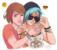 Pricefield: Max Caulfield and Chloe Price of Life is Strange.