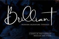 Brilliant - 3 Signature Font by Din Studio on @creativemarket